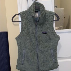 Army green Patagonia vest